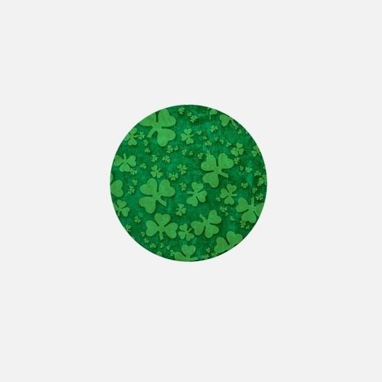 Shamrock Pattern Mini Button