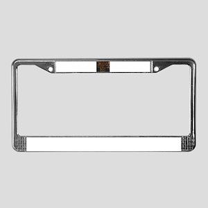Life Is Not A Matter - Stevenson License Plate Fra