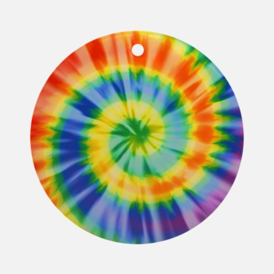 Printed Tie Dye Pattern Ornament (Round)