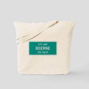 Boerne, Texas City Limits Tote Bag