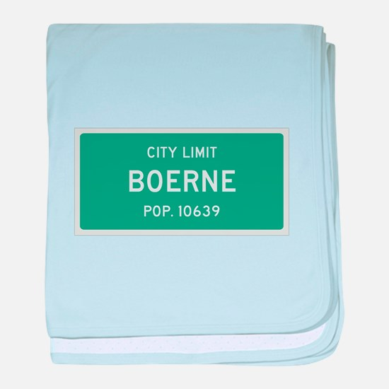 Boerne, Texas City Limits baby blanket