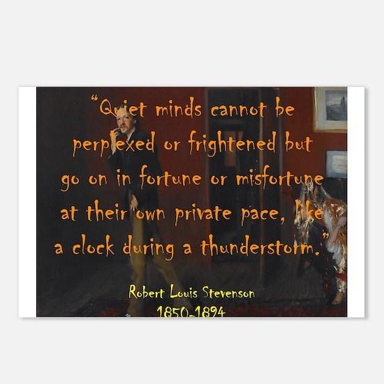 Quiet Minds Cannot Be Perplexed - Stevenson Postca