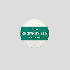 Brownsville, Texas City Limits Mini Button