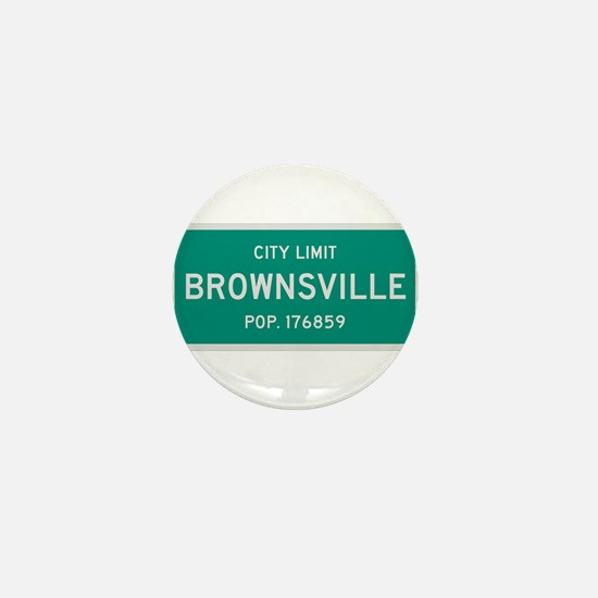 Brownsville, Texas City Limits Mini Button