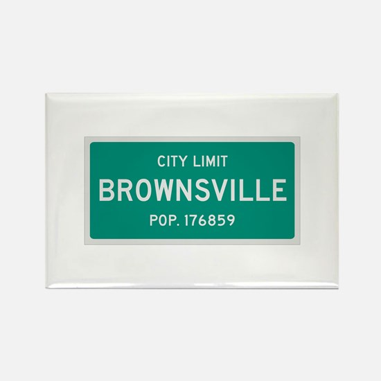 Brownsville, Texas City Limits Rectangle Magnet