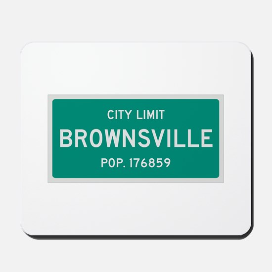 Brownsville, Texas City Limits Mousepad