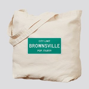 Brownsville, Texas City Limits Tote Bag