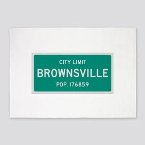 Brownsville, Texas City Limits 5'x7'Area Rug