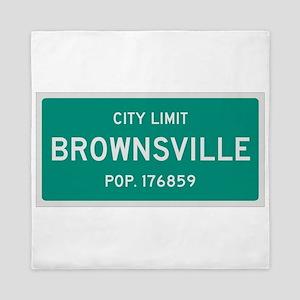 Brownsville, Texas City Limits Queen Duvet