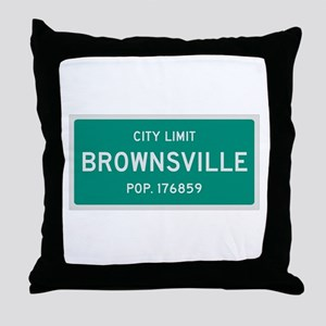 Brownsville, Texas City Limits Throw Pillow