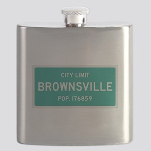 Brownsville, Texas City Limits Flask