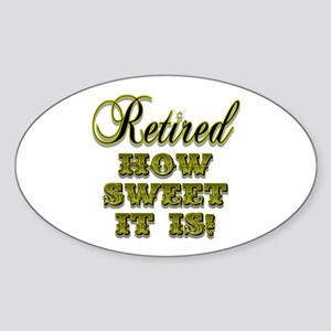 Retired Oval Sticker