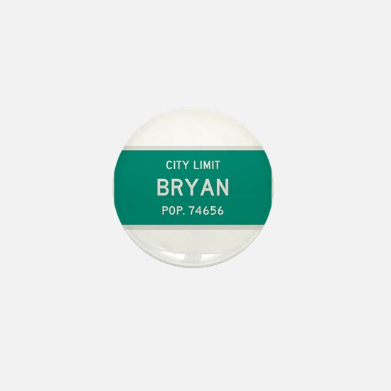 Bryan, Texas City Limits Mini Button
