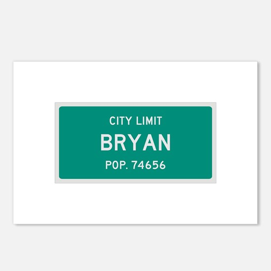 Bryan, Texas City Limits Postcards (Package of 8)