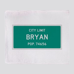 Bryan, Texas City Limits Throw Blanket