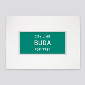 Buda, Texas City Limits 5'x7'Area Rug