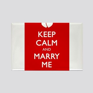 KEEP CALM AND MARRY ME Rectangle Magnet