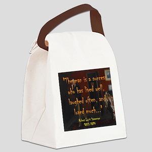 The Man Is A Success - Stevenson Canvas Lunch Bag