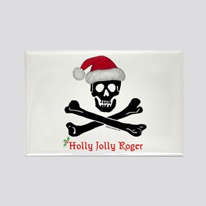 Holly Jolly Roger (C) Rectangle Magnet