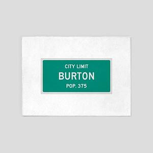 Burton, Texas City Limits 5'x7'Area Rug