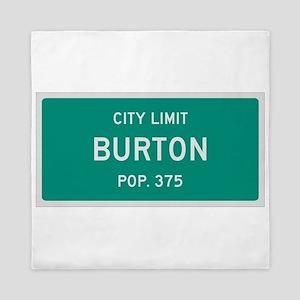Burton, Texas City Limits Queen Duvet
