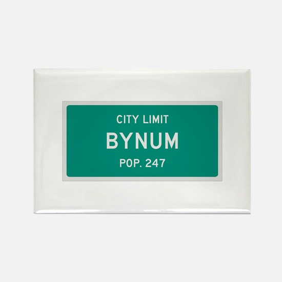 Bynum, Texas City Limits Rectangle Magnet