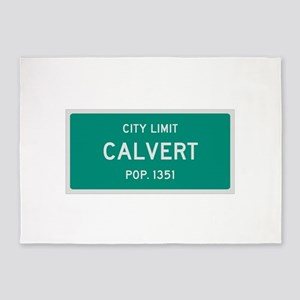 Calvert, Texas City Limits 5'x7'Area Rug