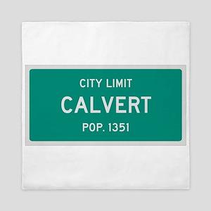 Calvert, Texas City Limits Queen Duvet