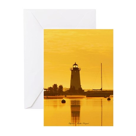 Edgartown Lighthouse, MV Greeting Cards (Package o
