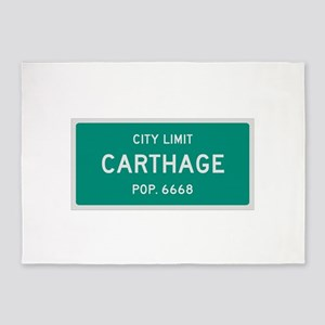 Carthage, Texas City Limits 5'x7'Area Rug