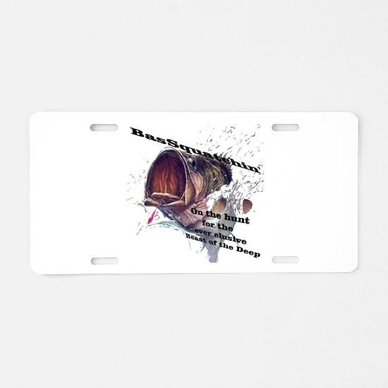 Bassquatch Aluminum License Plate