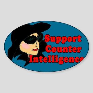 Support Counter Intelligence Tip Jar Sticker (Oval