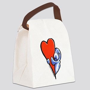 Love Manatees Canvas Lunch Bag
