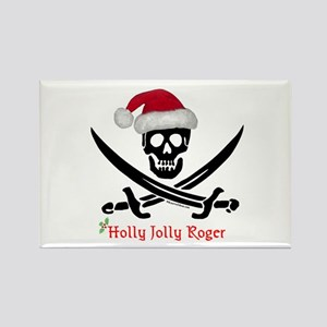 Holly Jolly Roger (S) Rectangle Magnet