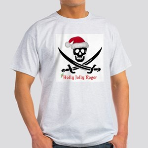 Holly Jolly Roger (S) Ash Grey T-Shirt