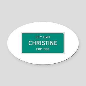 Christine, Texas City Limits Oval Car Magnet