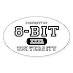 8-Bit University Oval Sticker