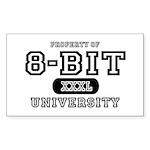 8-Bit University Rectangle Sticker