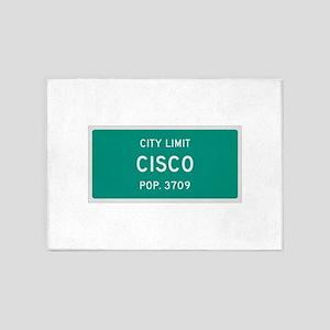 Cisco, Texas City Limits 5'x7'Area Rug