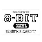8-Bit University Postcards (Package of 8)
