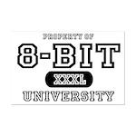 8-Bit University Mini Poster Print