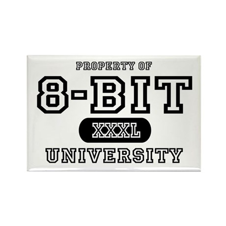 8-Bit University Rectangle Magnet (10 pack)