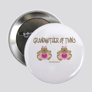 Grabdmother Of Twins (2 Girls) Button