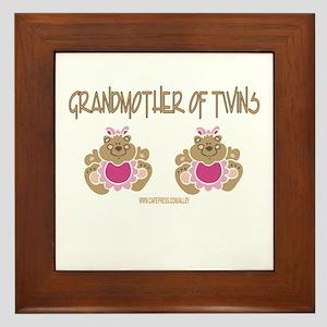 Grabdmother Of Twins (2 Girls) Framed Tile