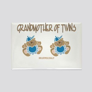 Grandmother Of Twins (2 Boys) Rectangle Magnet