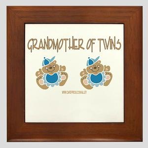 Grandmother Of Twins (2 Boys) Framed Tile