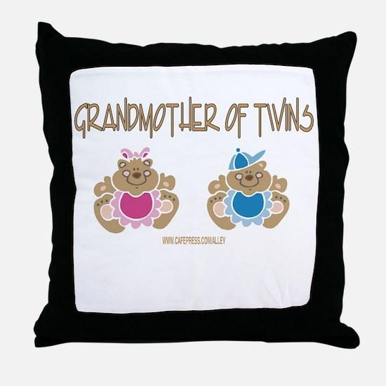 Grandma Of Twins- Boy/Girl Throw Pillow