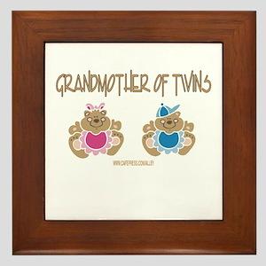 Grandma Of Twins- Boy/Girl Framed Tile