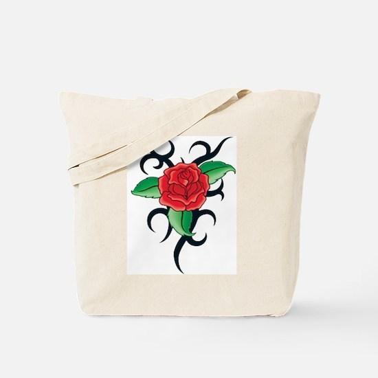 TRIBAL RED ROSE Tote Bag