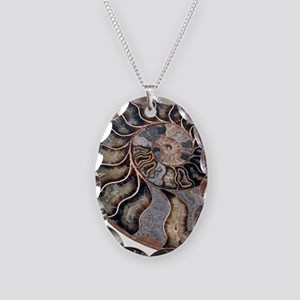 Ammonite - Necklace Oval Charm